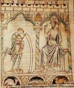 Enluminure Merlin et Vortigern