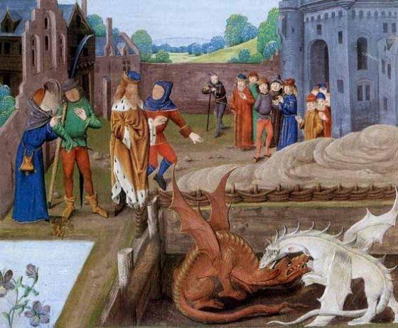 Merlin, Vortigern et les dragons